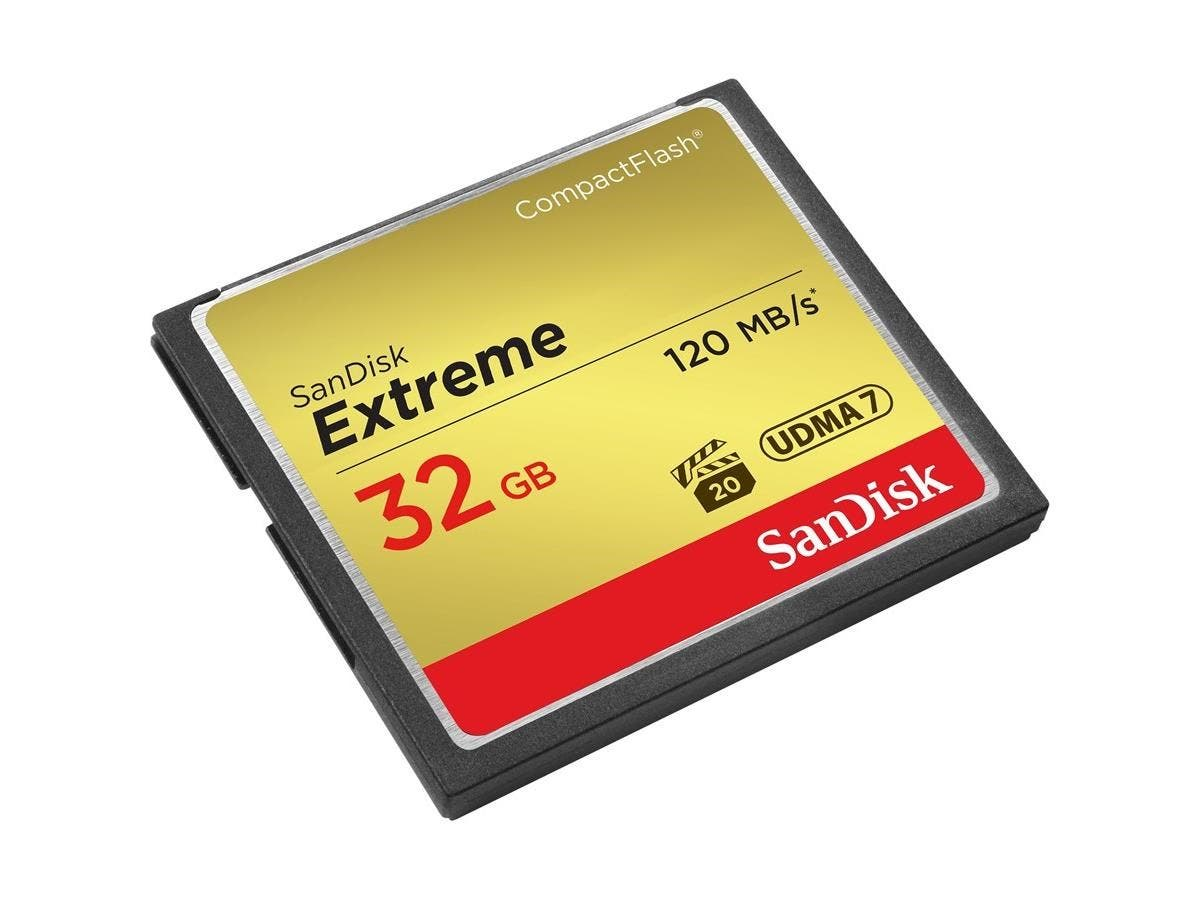 SanDisk Extreme 32 GB CompactFlash - 120 MB/s Read - 60 MB/s Write - 1 Card - 400x Memory Speed-Large-Image-1
