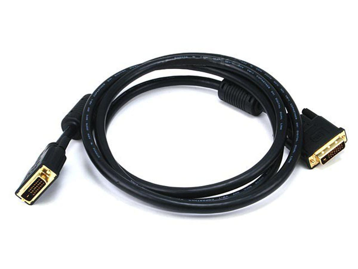 Monoprice 6ft 28AWG CL2 Dual Link DVI-D Cable - Black-Large-Image-1