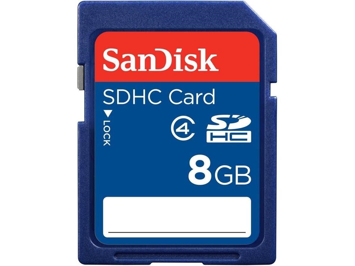 SanDisk 8 GB SDHC - Class 4 - 1 Card