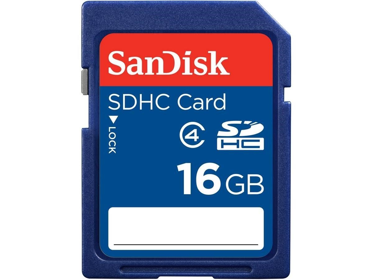 SanDisk 16 GB SDHC - Class 4 - 1 Card-Large-Image-1