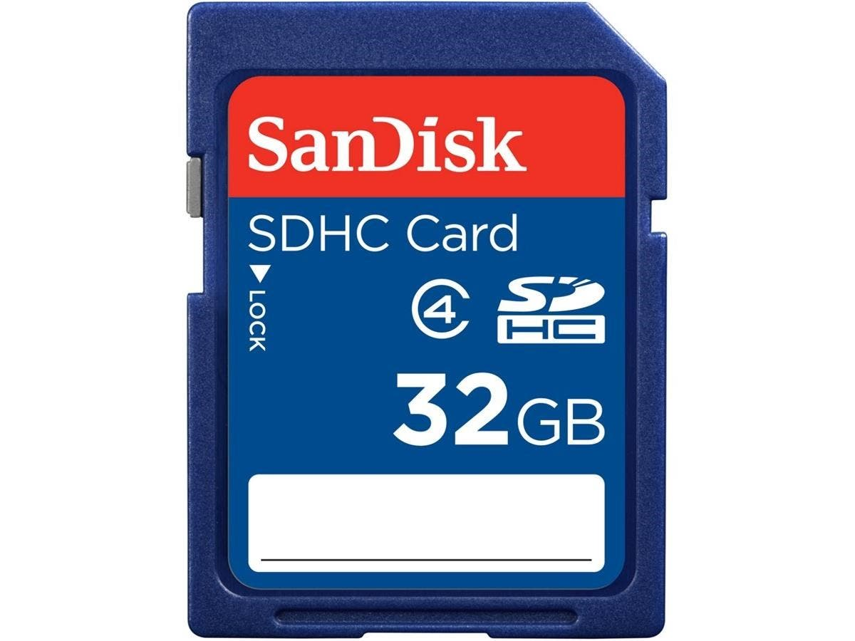 SanDisk 32 GB SDHC - Class 4 - 1 Card