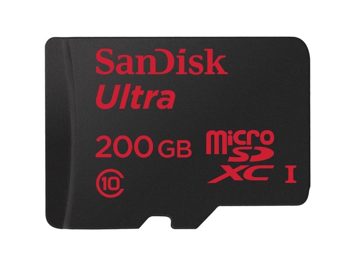 SanDisk Ultra 200 GB microSDXC - Class 10/UHS-I - 90 MB/s Read