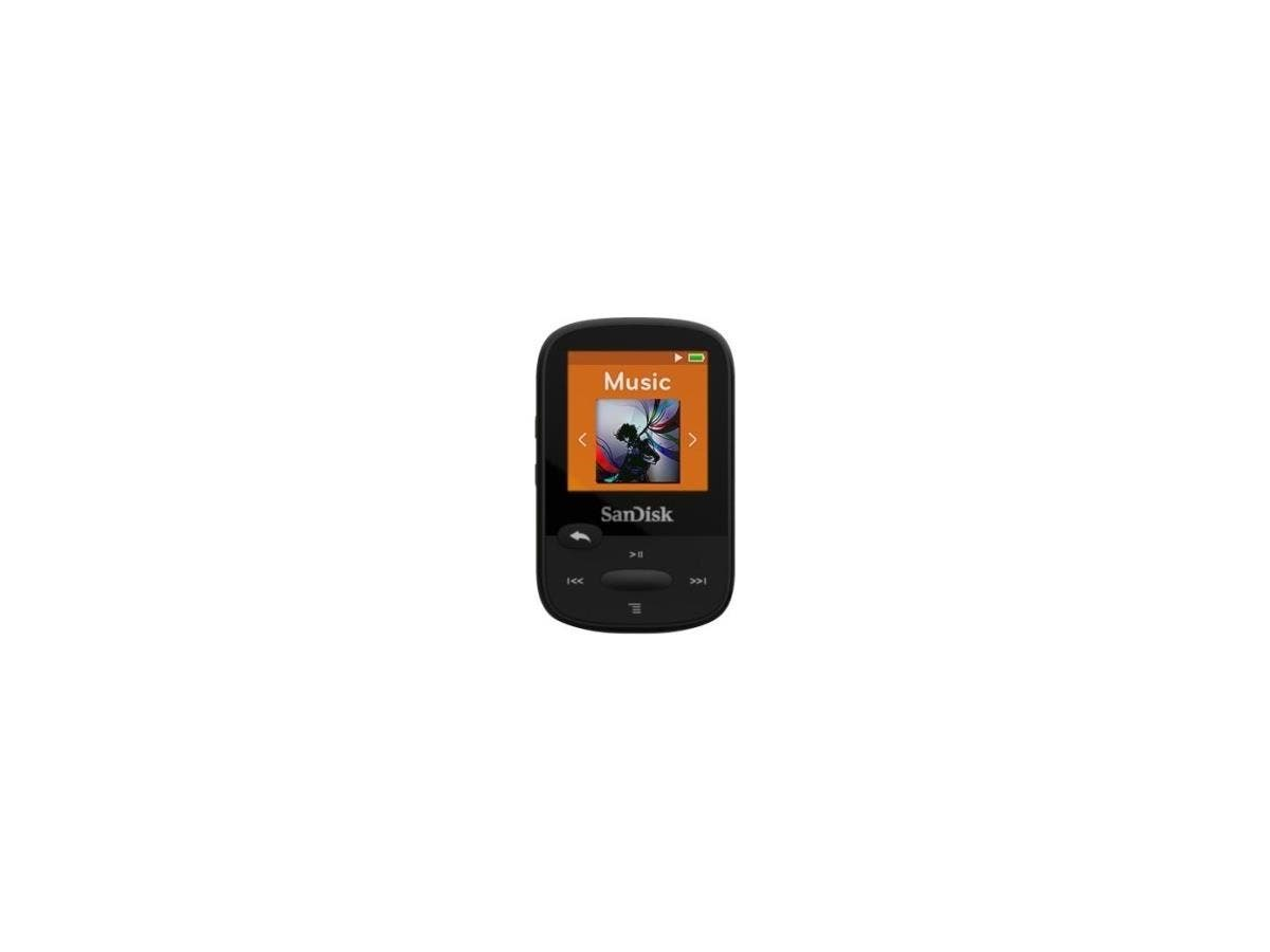 "SanDisk Clip Sport SDMX24-008G 8 GB Flash MP3 Player - Black - FM Tuner - 1.4"" - microSDHC - MP3, AAC, Audible, FLAC, Ogg Vorbis, WAV, WMA - 25 Hour-Large-Image-1"