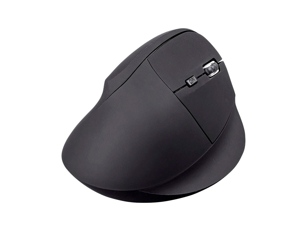 Workstream by Monoprice Wireless Ergonomic Optical Mouse, Soft Touch Black-Large-Image-1