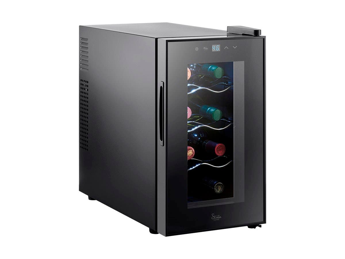 Strata home 8 bottle thermoelectric wine cooler for Modern homes 8 bottle wine cooler