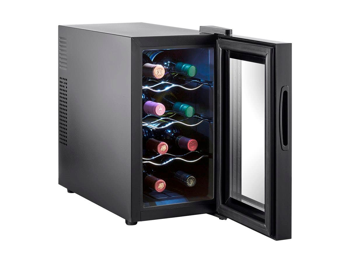 Monopricestrata home 8 bottle compact thermoelectric wine for Modern homes 8 bottle wine cooler