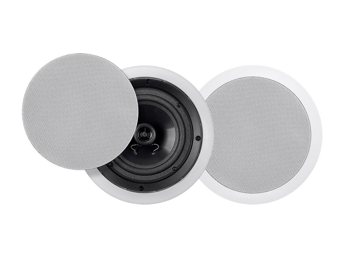 Monoprice Commercial Audio Metro 20W 6.5-inch Coax Ceiling Speaker 70V Pair (No Logo)-Large-Image-1