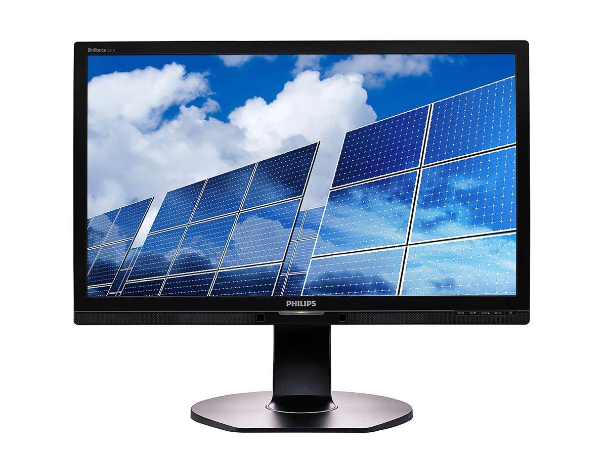 """Philips Monitor 22"""" Class IPS Panel Full HD 1920x1080 VGA DVI-D DisplayPort Built-in 2Wx2 Speakers USB 2.0x4 221B6QPYEB"""