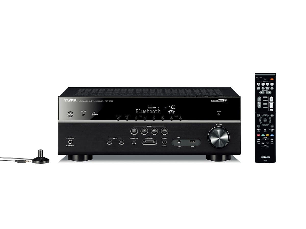 Yamaha TSR-5790BL 7.2 Channel A/V MusicCast Receiver 4K UHD Passthrough w/Bluetooth & WiFi (Yamaha Recertified)
