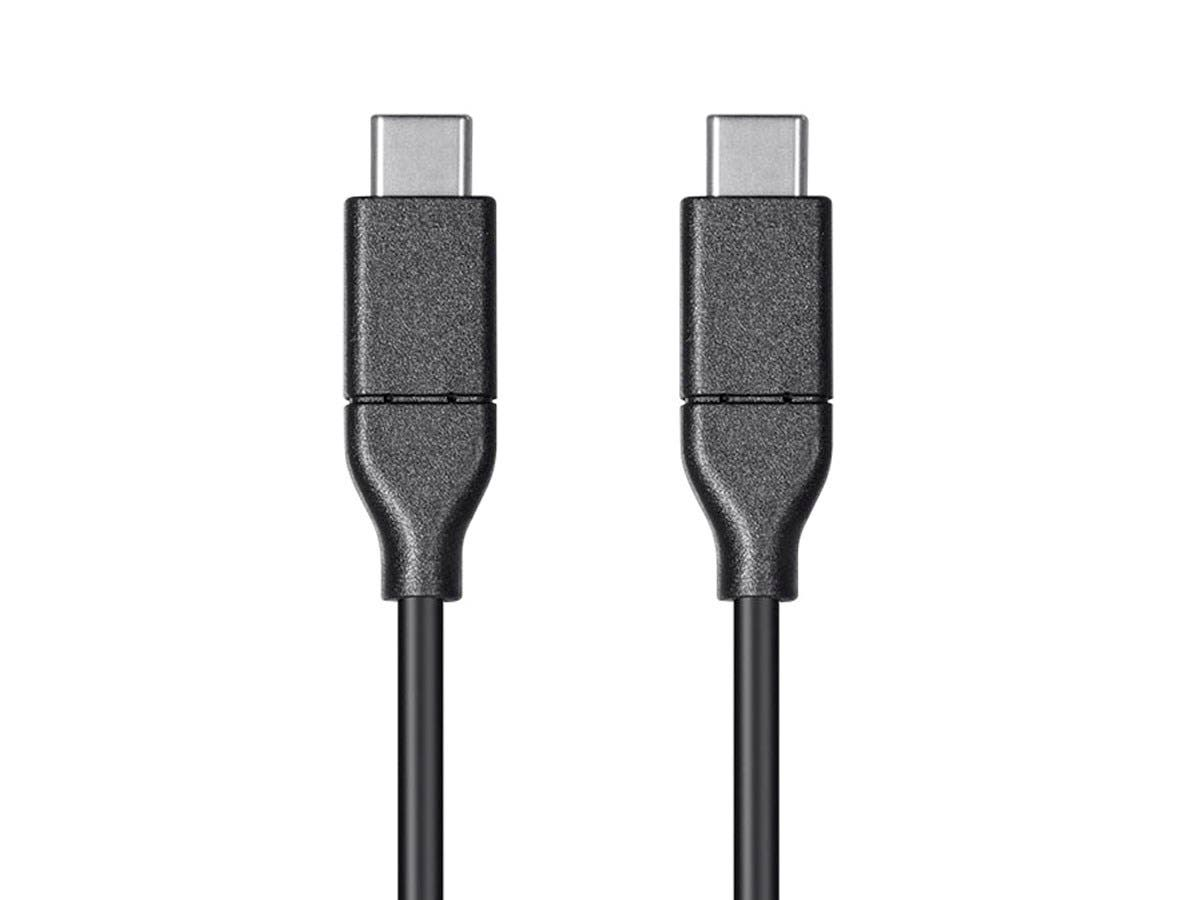 Select Series USB Type-C to Type-C 2.0 Cable, 480Mbps, 3A, 30AWG, Black, 3.3ft-Large-Image-1