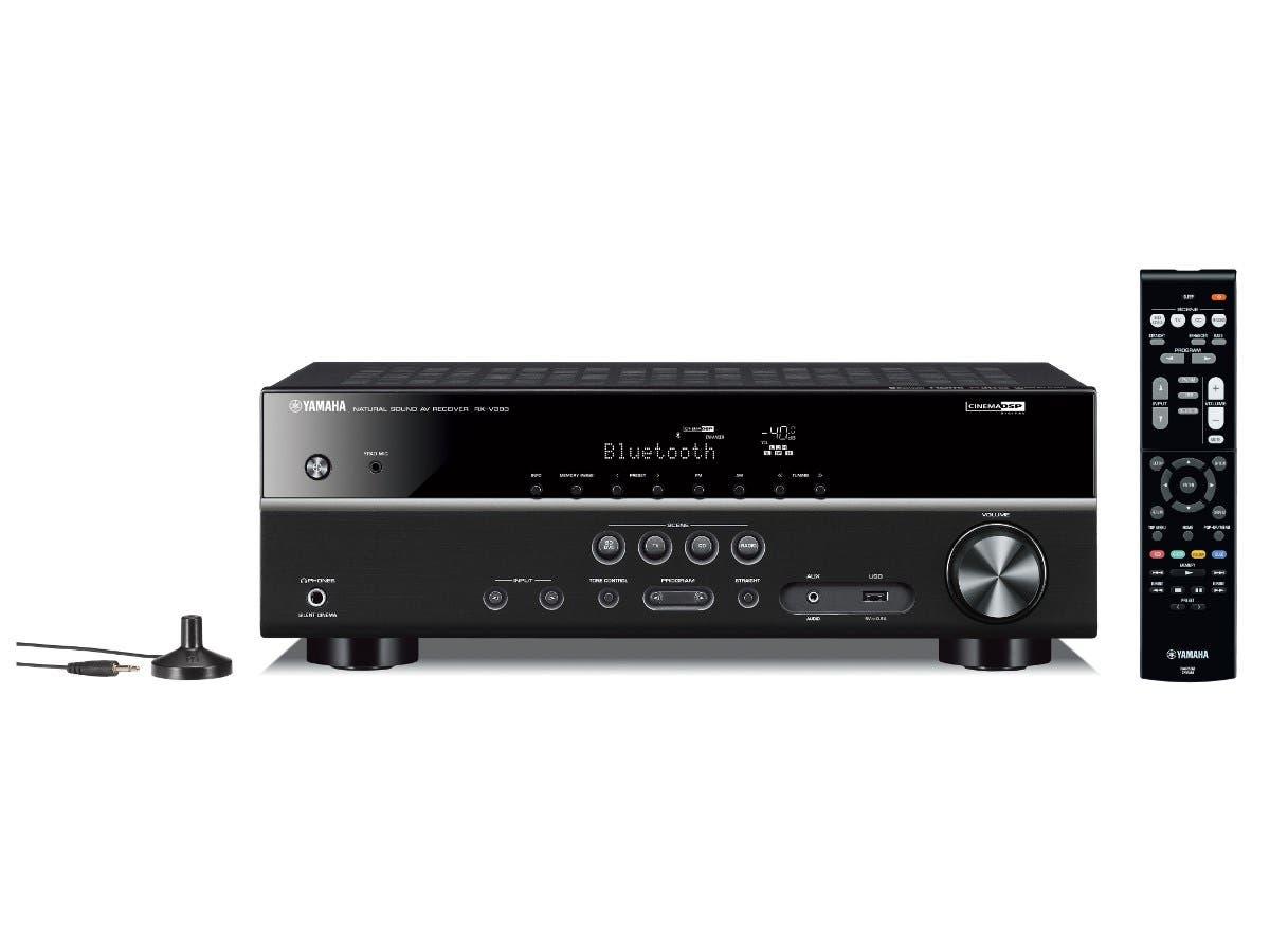 Yamaha RX-V383BL 5.1CH Receiver Dolby True HD & DTS Master HD 4K Ultra HD pass-thru HDCP 2.2 HDR, Dolby Vision, Hybrid Log-Gamma, BT.2020