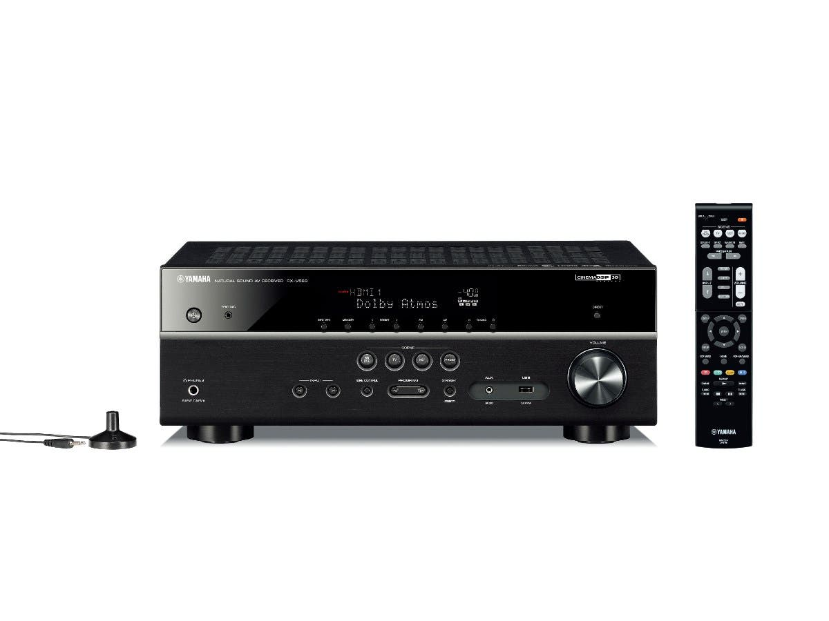 Yamaha RX-V583BL MusicCast 7.2CH Receiver Dolby Atmos & DTS:X 4K Ultra HD pass-thru HDCP 2.2 HDR, Dolby Vision, Hybrid Log-Gamma, BT.2020 Network Home Theater Receiver - Black