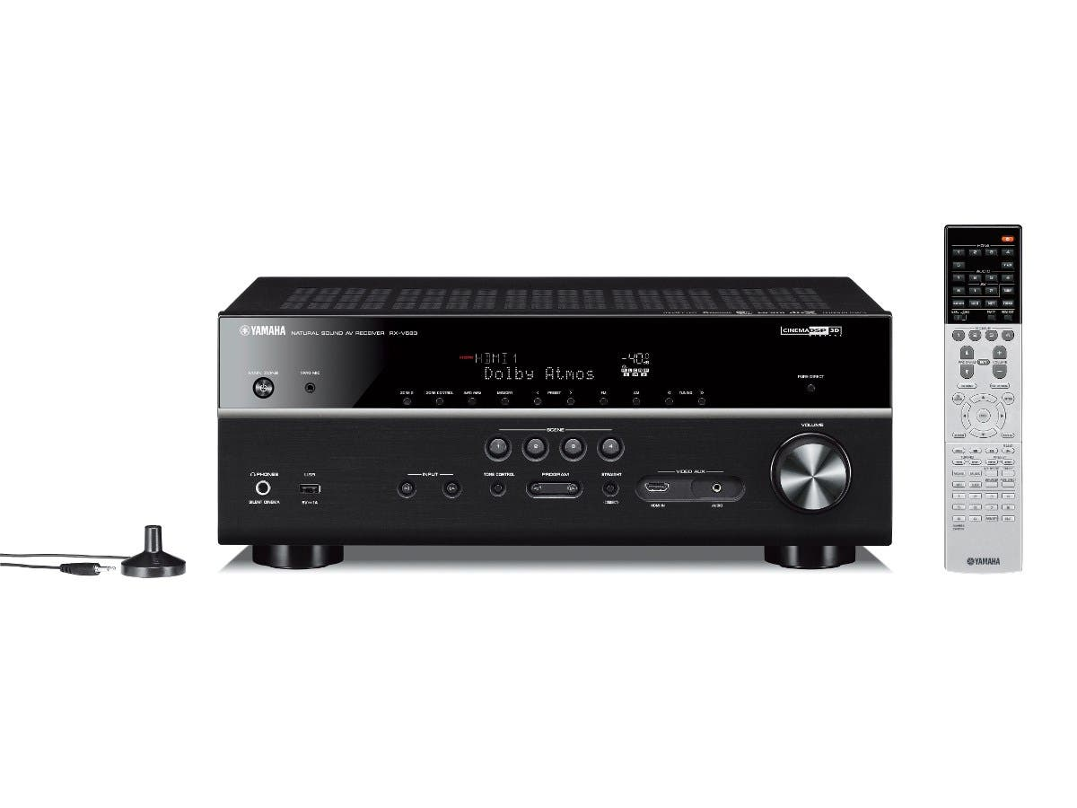 Yamaha RX-V683BL 7.2-Channel MusicCast Dolby Atmos & DTS:X 4K Ultra HD pass-thru HDCP 2.2 HDR, Dolby Vision, Hybrid Log-Gamma, BT.2020 Network Home Theater Receiver - Black