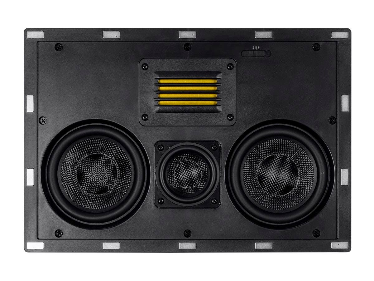 Amber In-Wall Speaker Center Channel Dual 5.25-inch 3-way Carbon Fiber with Ribbon Tweeter (single)