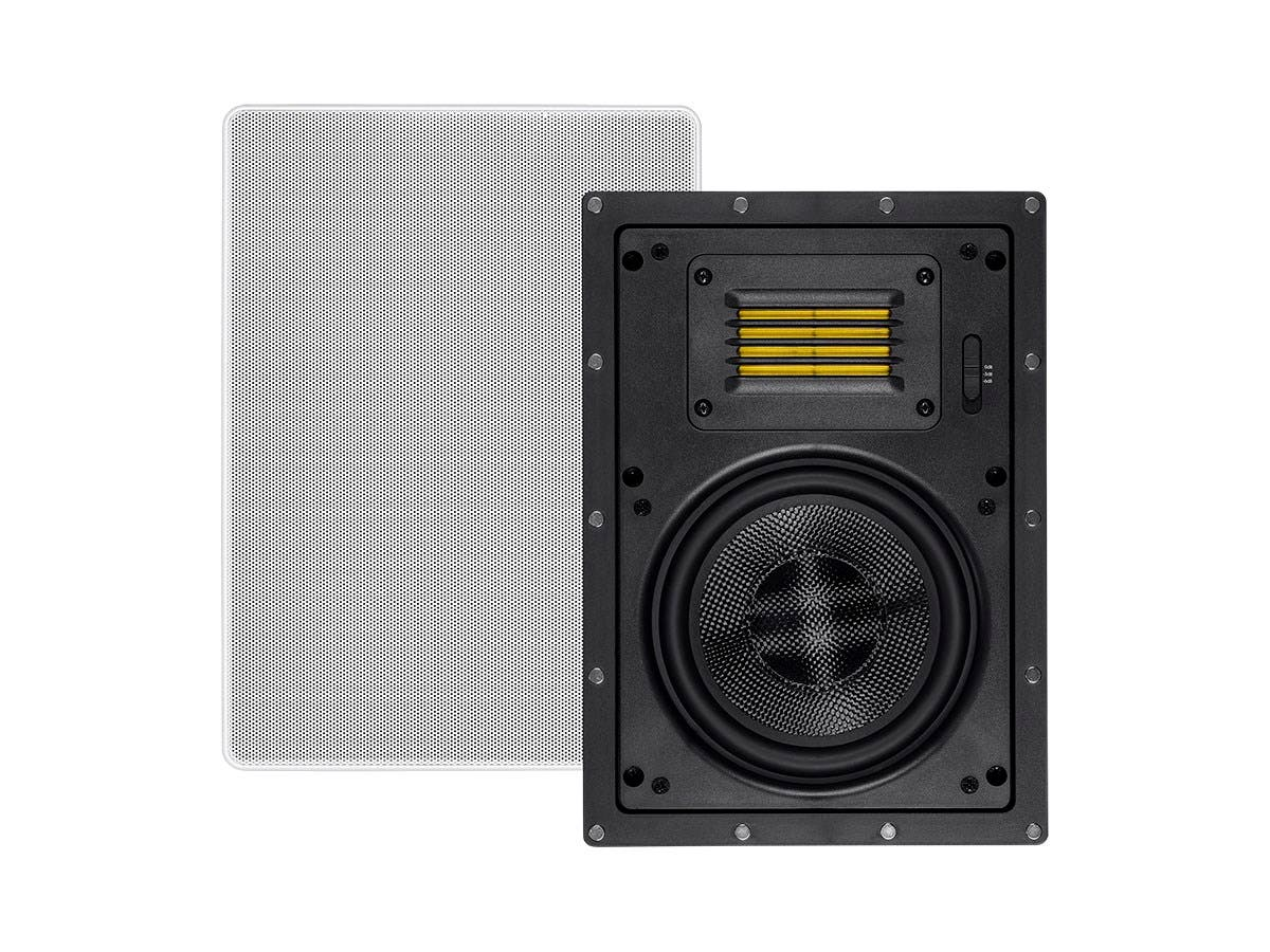 Monoprice Amber In-Wall Speakers 6.5-inch 2-way Carbon Fiber with Ribbon Tweeter (pair)-Large-Image-1