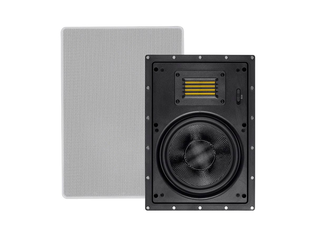 Amber In-Wall Speakers 8-inch 2-way Carbon Fiber with Ribbon Tweeter (pair)