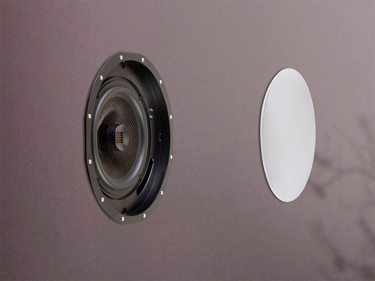 Amber Ceiling Speakers 8 Inch 2 Way Carbon Fiber With