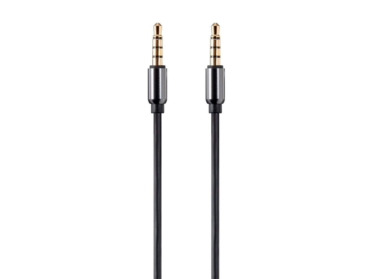 Monoprice Onyx Series Auxiliary 35mm Trrs Audio Microphone Cable Headphone Jack Wiring Diagram 15ft Large