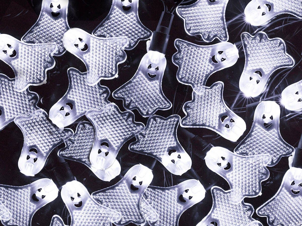 10 Count Crystal Flat Ghost Halloween String Light 11.5 ft-Large-Image-1