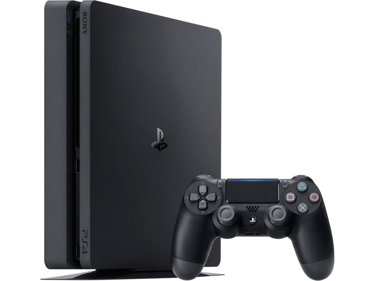 Sony PlayStation 4 (PS4 Slim) 1TB - Black-Large-Image-1