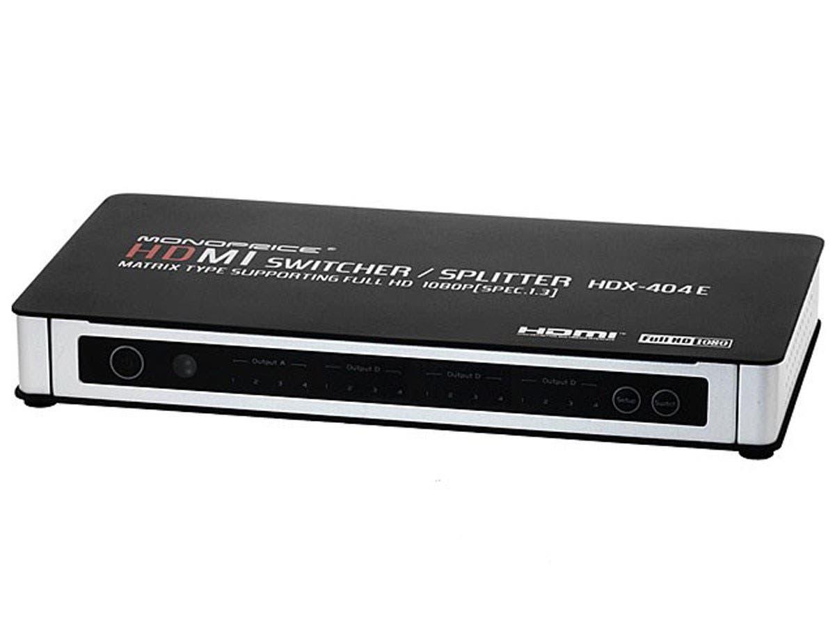 Monoprice 4X4 True Matrix HDMI Powered Switch with Remote Control (Rev. 3.0) (Open Box))-Large-Image-1