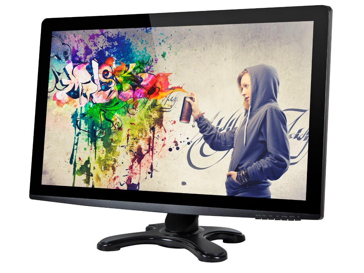 27in IPS-Glass Panel Pro LED Monitor WQHD 2560x1440 440cd/m2, HDMI / DVI / VGA / DisplayPort 1.2 with Built-in Speakers (Open Box)
