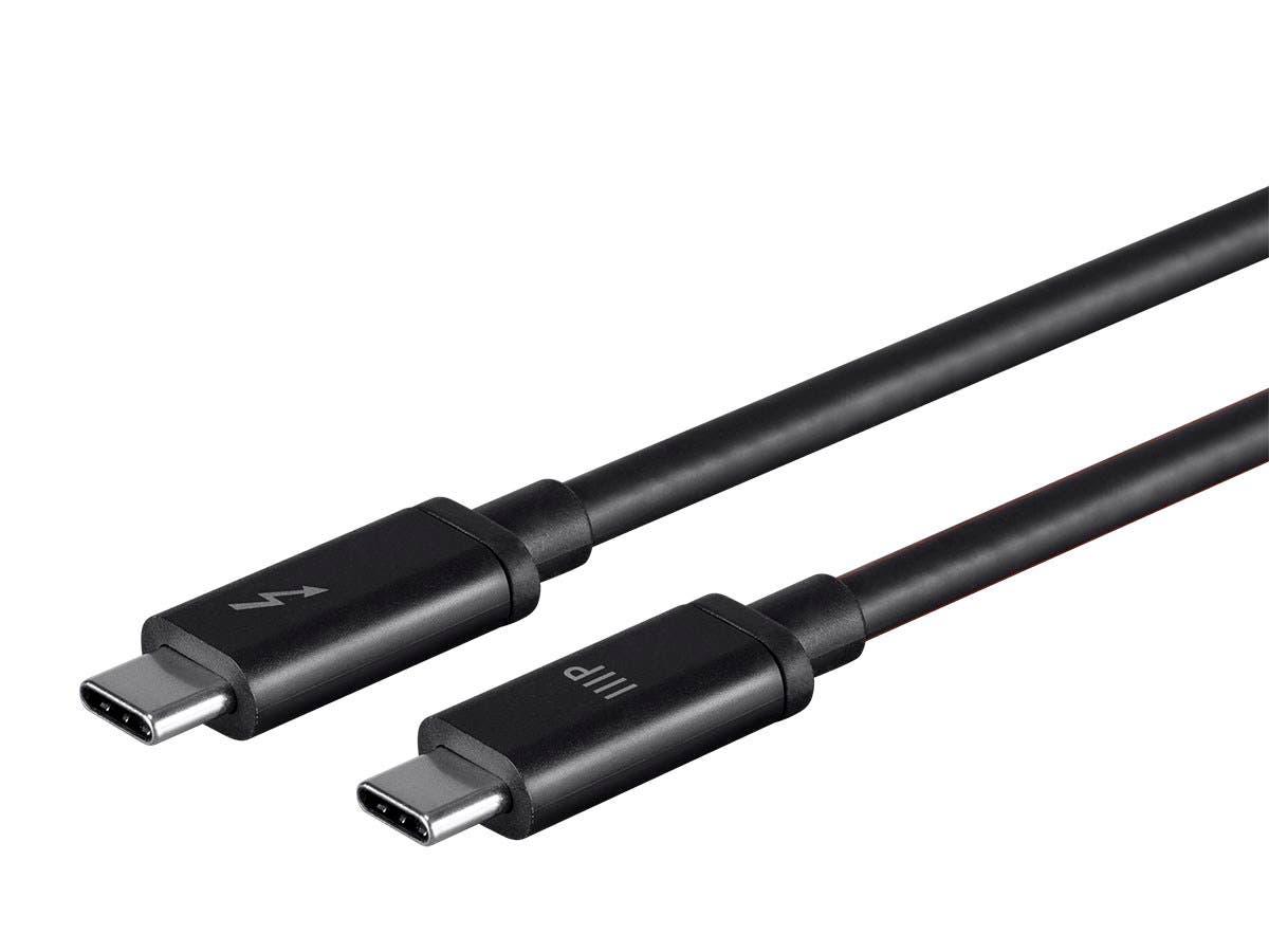 Monoprice Thunderbolt 3 (20 Gbps) USB-C Cable, 100W, 1.0m-Large-Image-1