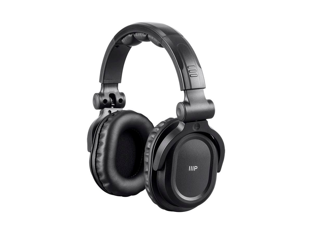 Monoprice Premium Hi-Fi DJ Style Over-the-Ear Pro Bluetooth Headphones with Mic and Qualcomm aptX Support (8323 with Bluetooth)-Large-Image-1