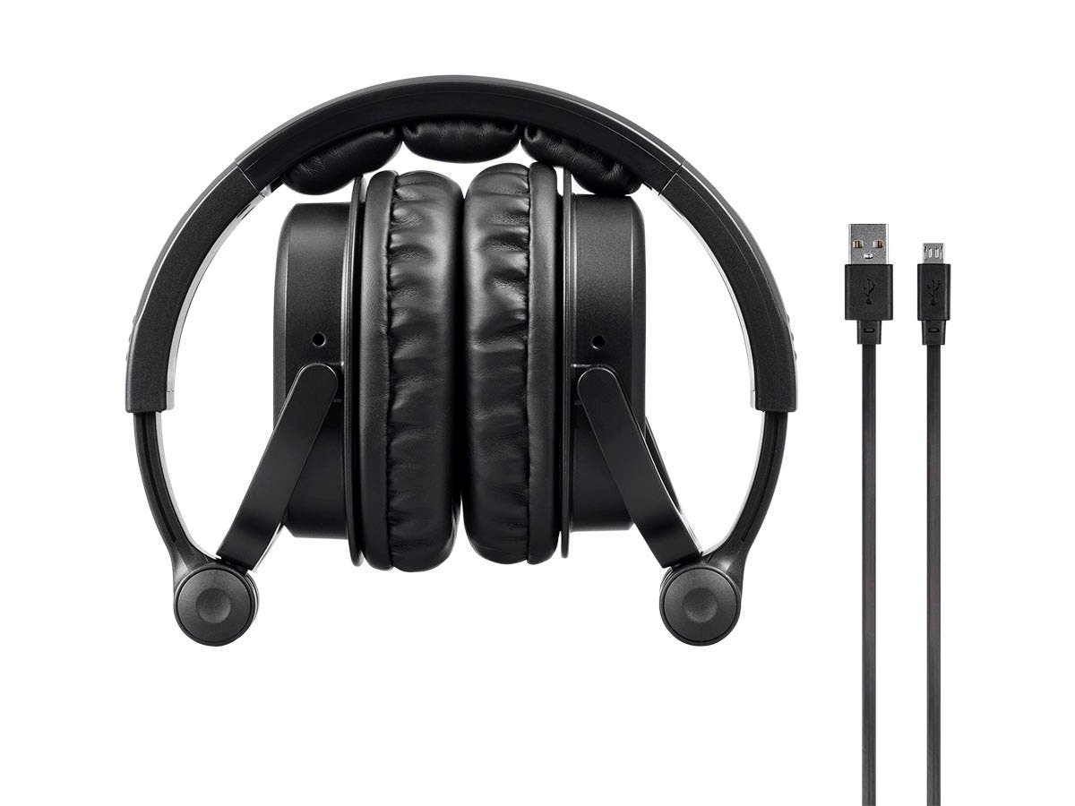 Monoprice Premium Hi Fi Dj Style Over The Ear Pro Bluetooth Headphones With Mic And Qualcomm Aptx Support 8323 With Bluetooth Monoprice Com