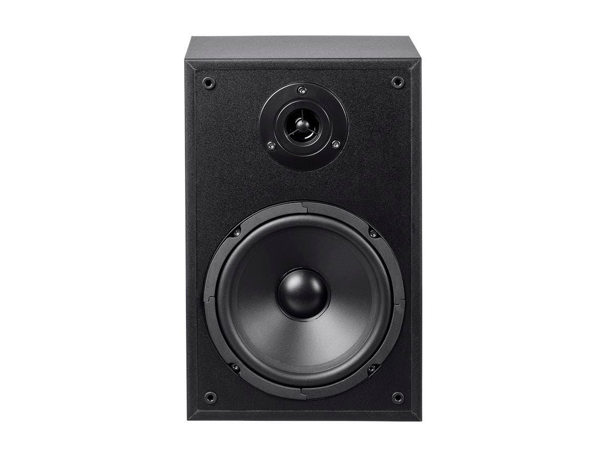 Monoprice MP 65TW 65in 2 Way Bookshelf Speakers Pair Black