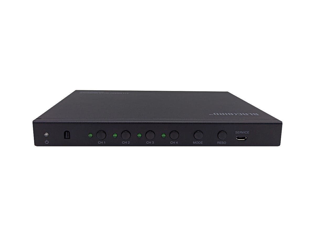 Monoprice Blackbird - 4x1 HDMI 1.4 Switch, Quad Multiview, HDCP 2.2, Remote Control, 1080P@60hz-Large-Image-1