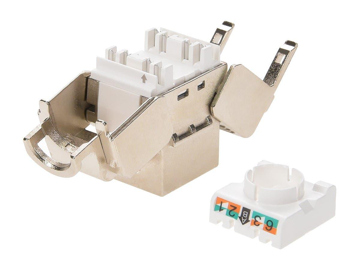 Monoprice Entegrade Series Cat7 Or Cat6a Rj 45 Shielded Toolless Cat 6 568c Wiring Diagram Keystone Jack 10 Pack