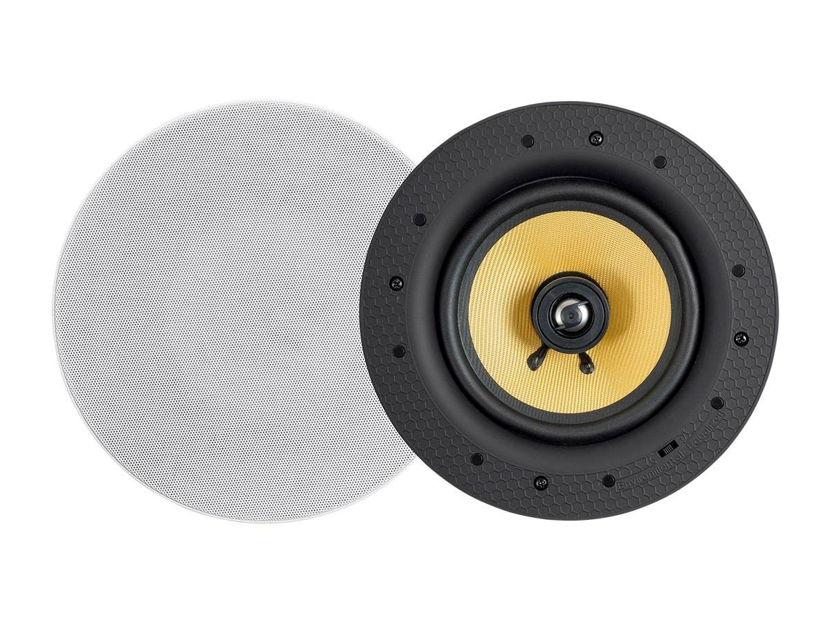 Monoprice Caliber 60-Watt Powered 6.5in Ceiling Speakers, Fiber 2 ...