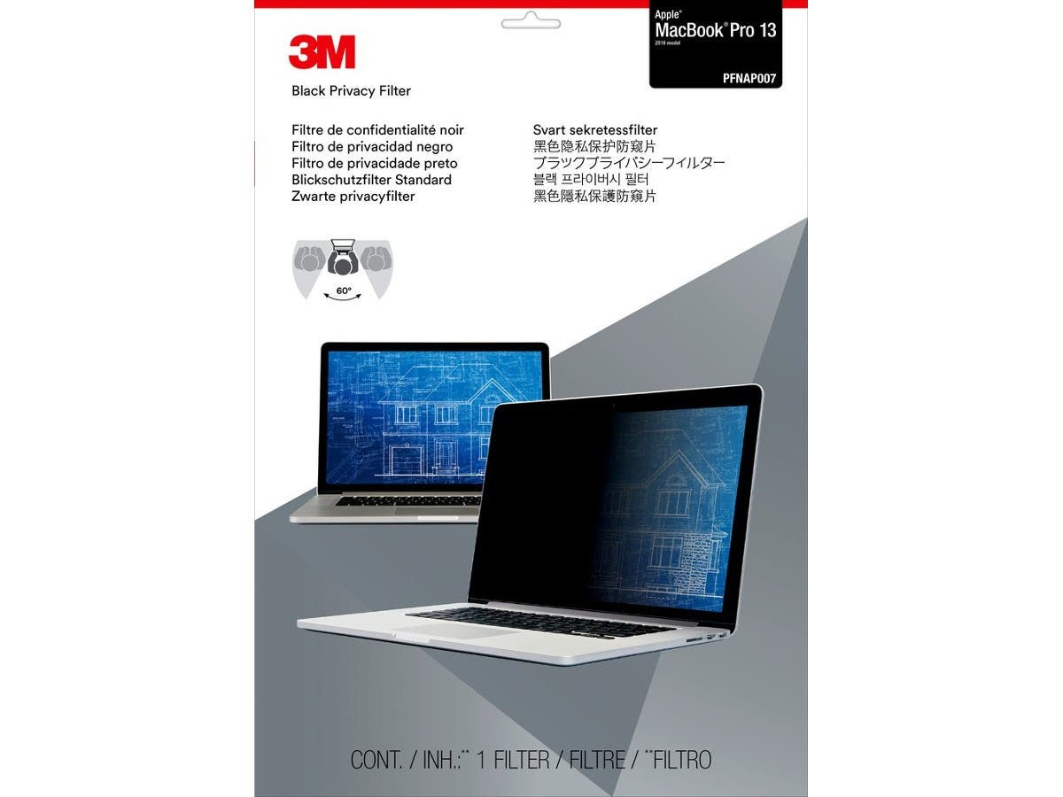 "3M™ Privacy Filter for 13"" Apple® MacBook Pro® (2016 model) PFNAP007-Large-Image-1"