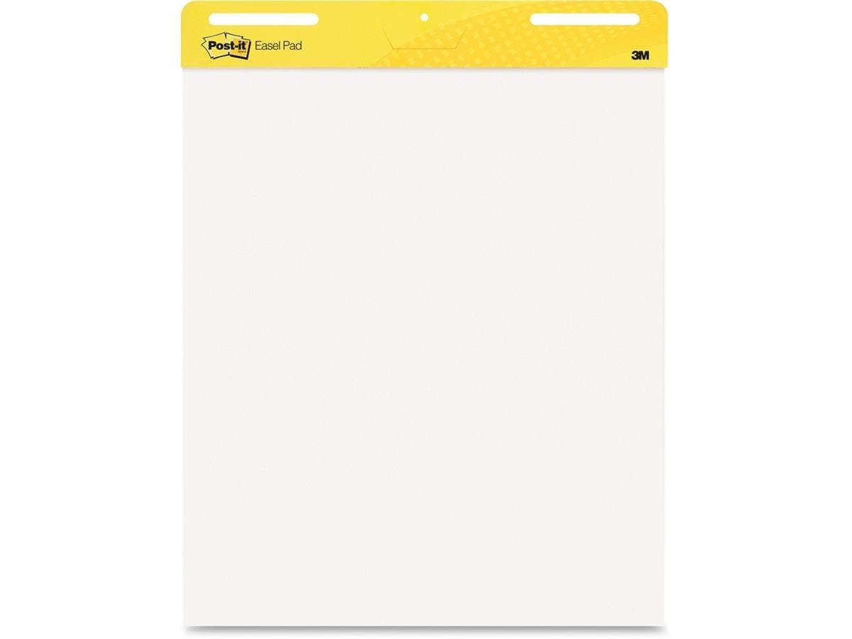 "Post-it Self-Stick Easel Pad - 30 Sheets - Plain - Glue - 25"" x 30.51"" - White Paper - 2 / Carton-Large-Image-1"