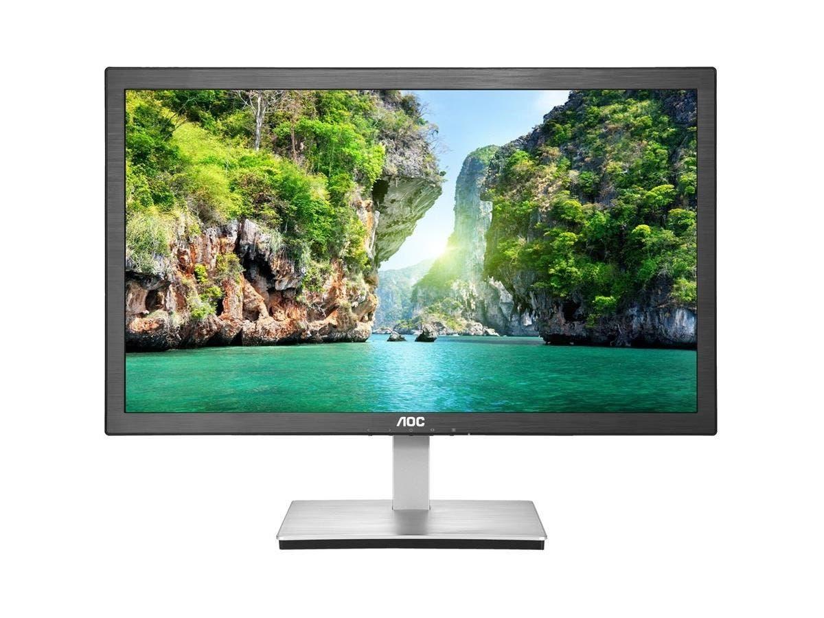 "AOC e2476Vwm6 23.6"" Anti-Blue Light LED Monitor with HDMI and 1ms response - 1920 x 1080 - 16 Million Colors - 250 Nit - 20,000,000:1 - Full HD - HDMI - VGA - 26 W - Black"