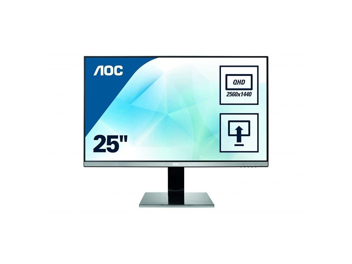 AOC Q2577PWQ QHD 25 INCH 2560 x 1440 2W speakers VGA DVI HDMI Display Port HEIGHT ADJ PIVOT