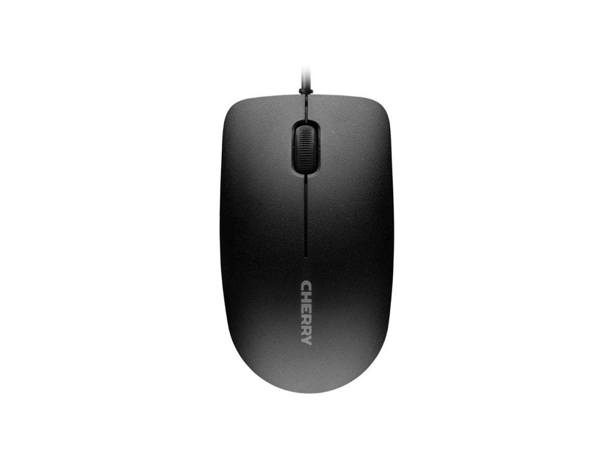 Cherry MC 1000 Mouse - Optical - Cable - Black - USB 2.0 - 1200 dpi - Scroll Wheel - 3 Button(s) - Symmetrical-Large-Image-1