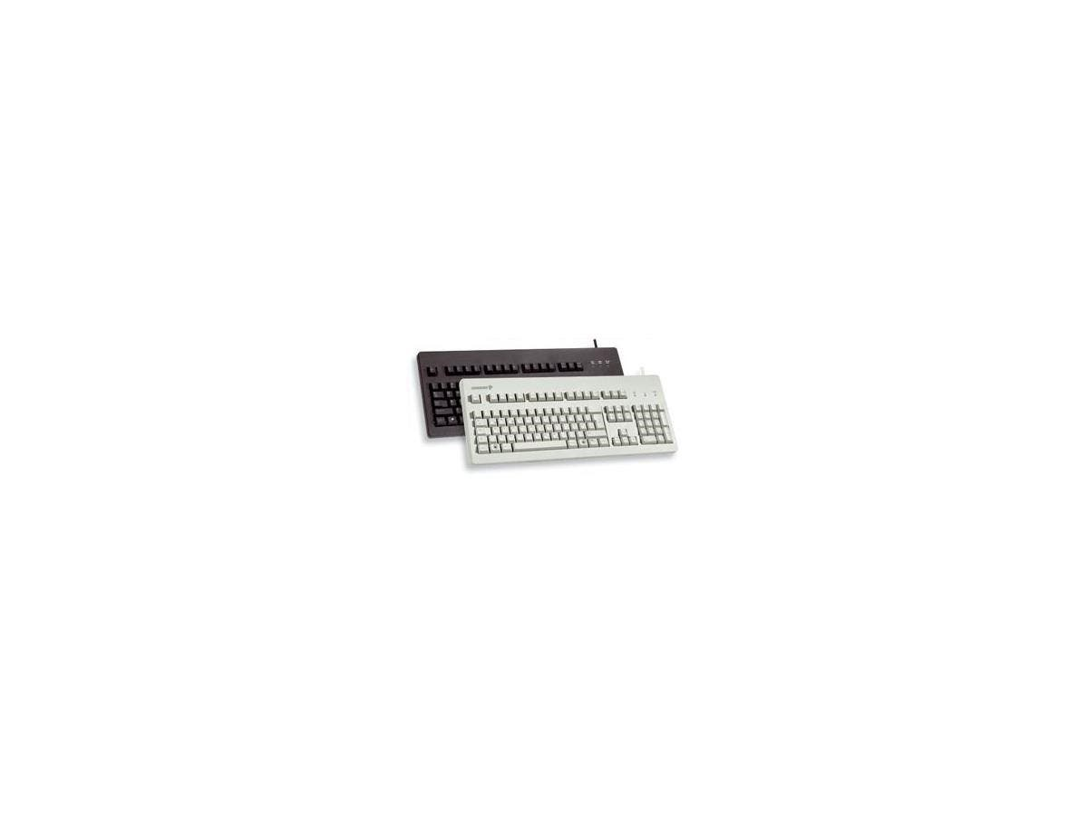 Cherry G80-3000 MX Technology Keyboard - Cable Connectivity - USB Interface - 104 Key - Compatible with Computer - Black-Large-Image-1
