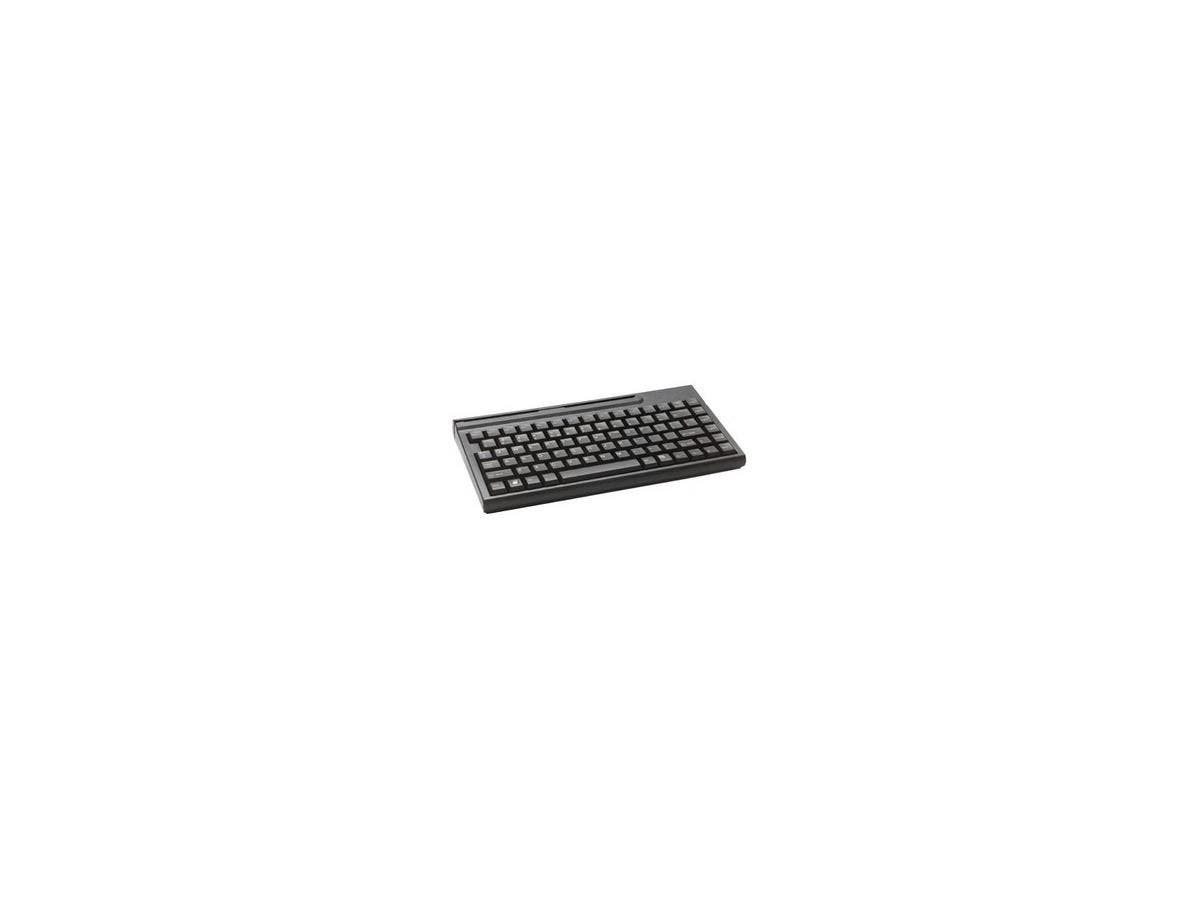 Cherry MPOS G86-51410 POS Keyboard - 83 Keys - QWERTY Layout - Magnetic Stripe Reader - USB - Black-Large-Image-1