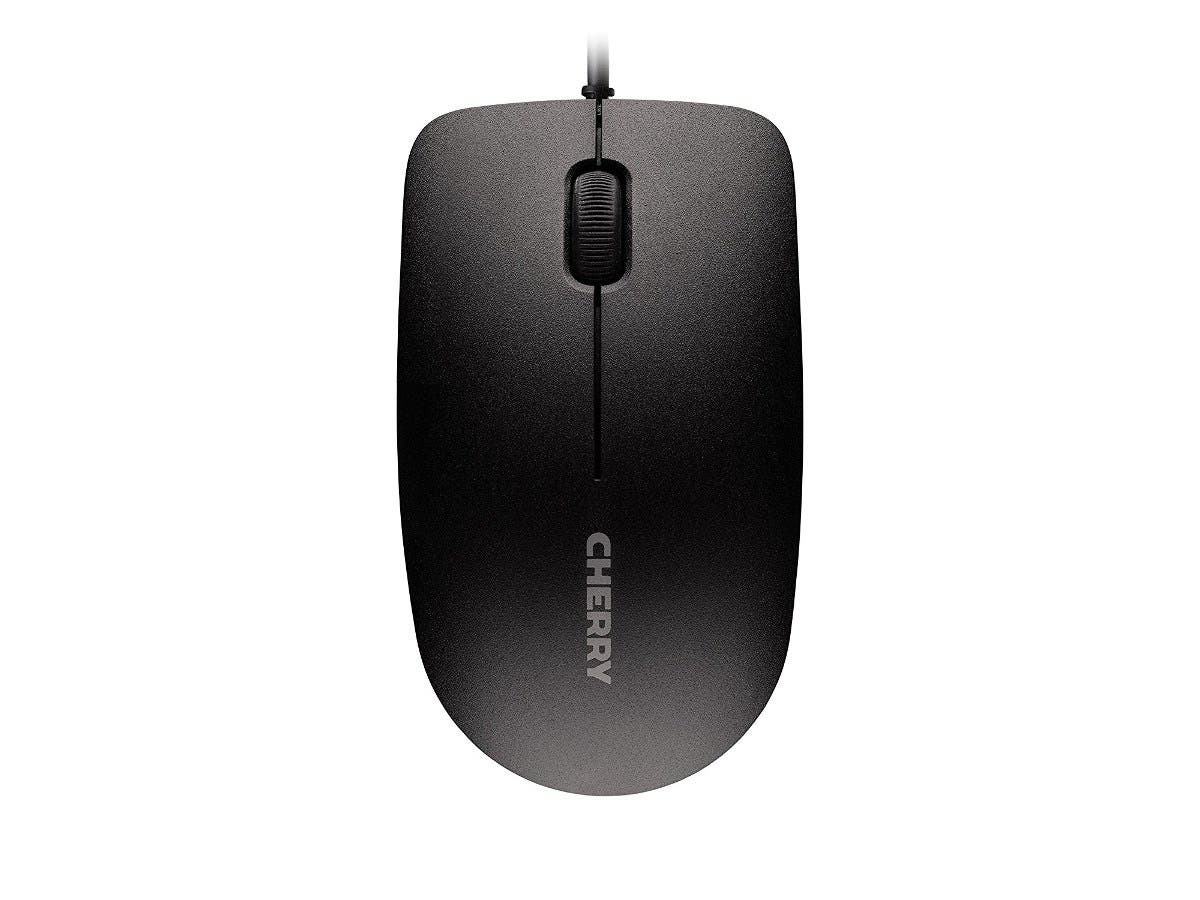 Cherry MC 1000 Mouse - Optical - Cable - White Gray - USB 2.0 - 1200 dpi - Scroll Wheel - 3 Button(s) - Symmetrical-Large-Image-1