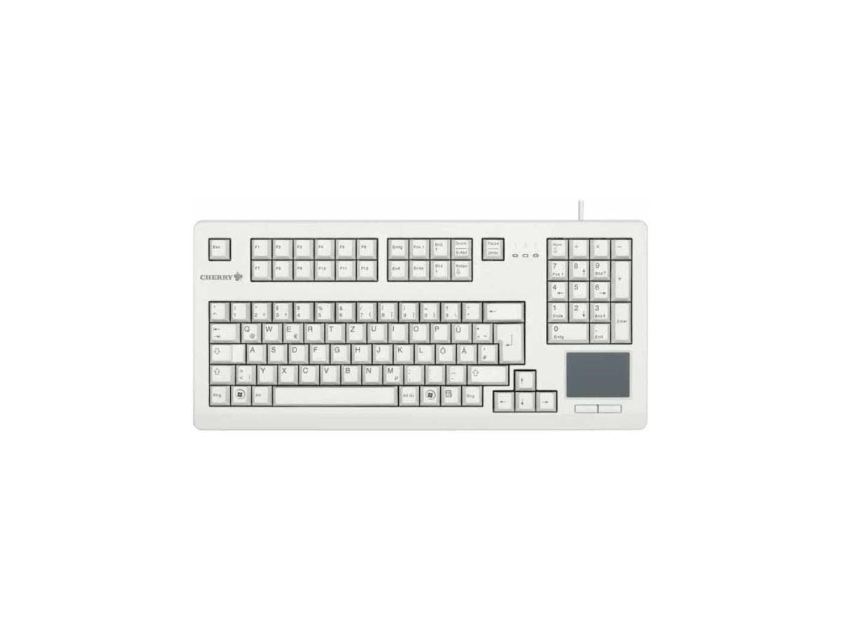 Cherry Advanced Performance Line Keyboard - USB - Light Gray-Large-Image-1