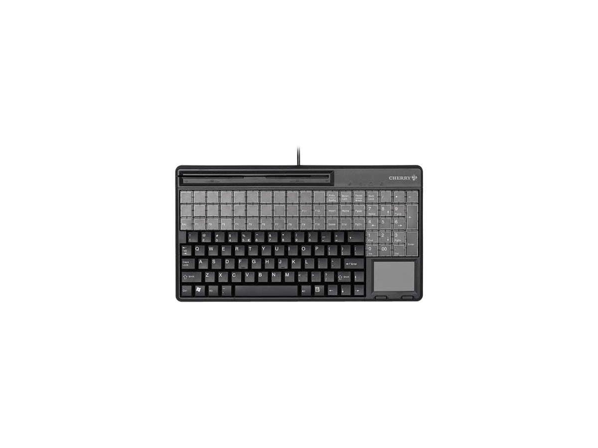 Cherry SPOS G86-61401 POS Keyboard - 123 Keys - 60 Relegendable Keys - USB - Black-Large-Image-1