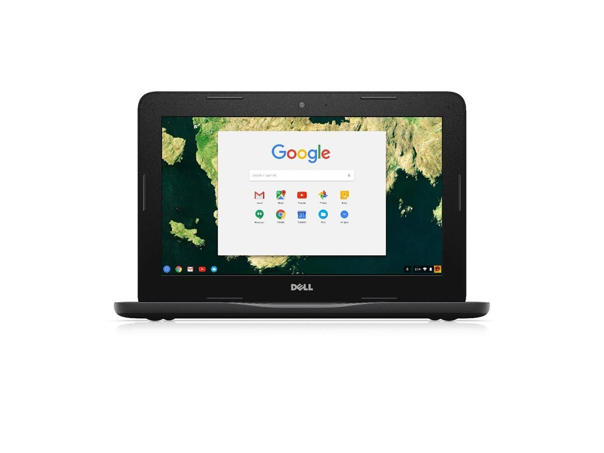 Dell Chromebook 11 3180 RH02N 11.6-Inch Laptop (Black) -Large-Image-1