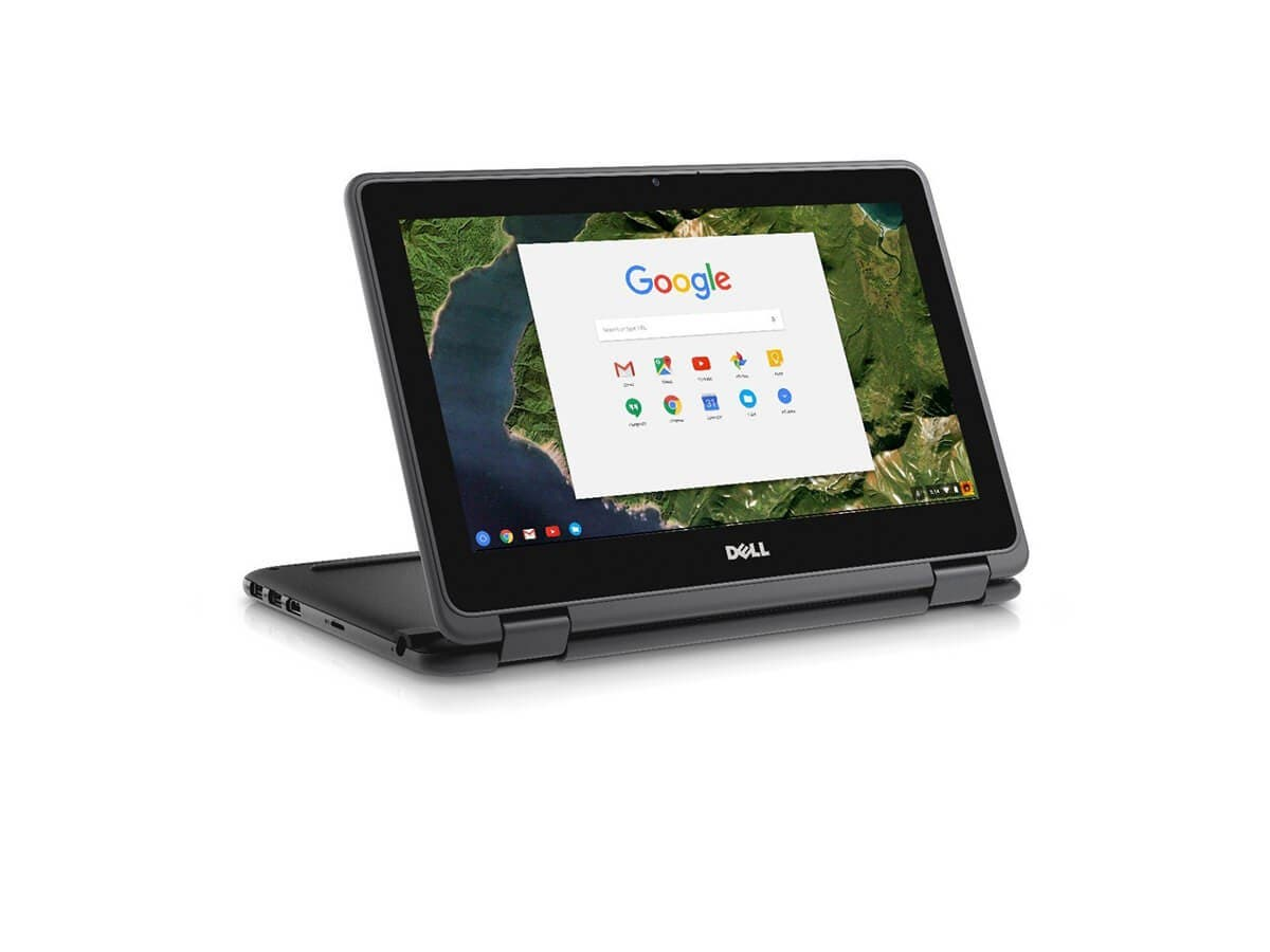 "Dell Chromebook 3189 Celeron N3060 1.6GHz 4GB 16GB SSD 3C 11.6"" HD MT Chrome OS - 2NN30-Large-Image-1"