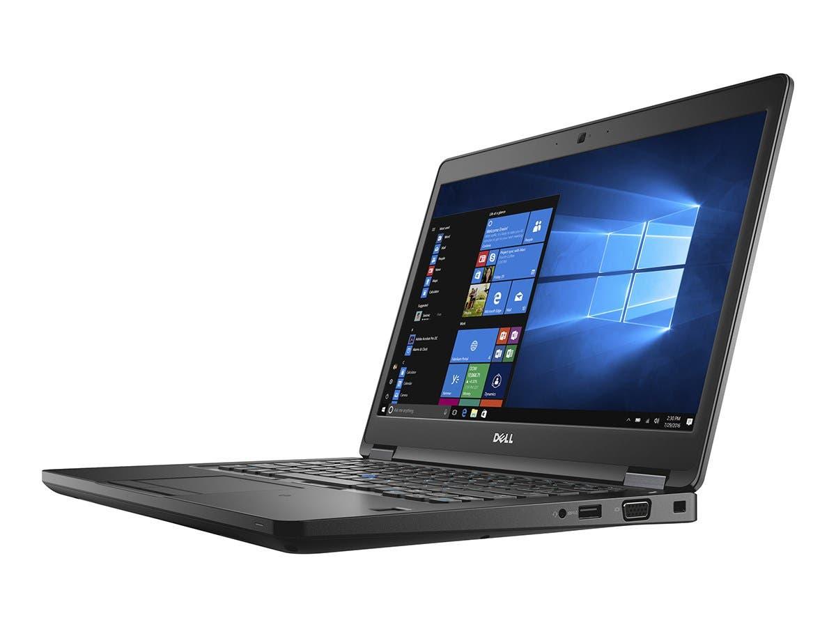 "Dell Latitude 5480 Core i7-7600U 2.8GHz 8GB 256GB SSD ac BT WC 4C 14"" FHD W10P64-Large-Image-1"