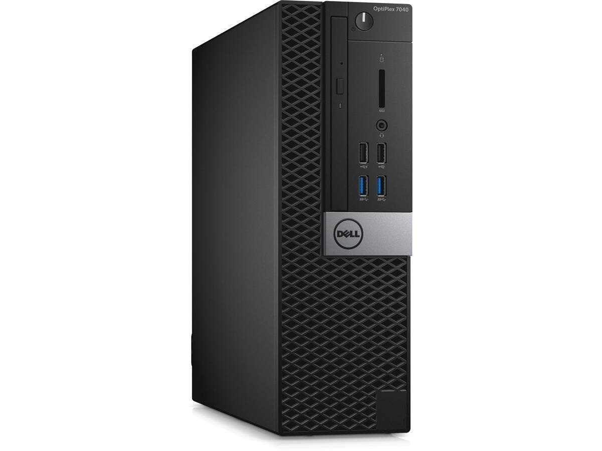 Dell OptiPlex 7040 Desktop Computer - Intel Core i7 (6th Gen) i7-6700 3.40 GHz - Small Form Factor - 16 GB DDR4 SDRAM RAM - 256 GB SSD - DVD-Writer DVD±R/±RW - Intel HD Graphics 530 - DDR4 S