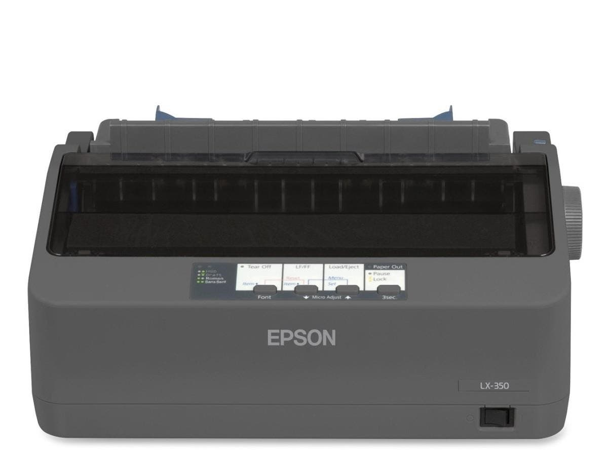 Epson LX-350 Dot Matrix Printer - Monochrome - 9-pin - 80 Column - 357 Mono - USB - Parallel - Serial-Large-Image-1