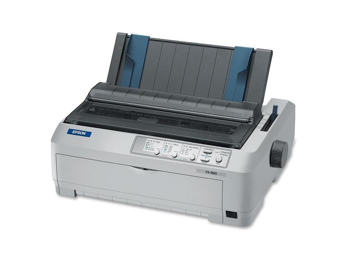 Epson FX-890 Dot Matrix Printer - 9-pin - 160 Column - 680 Mono - 240 x 144 dpi - USB - Parallel