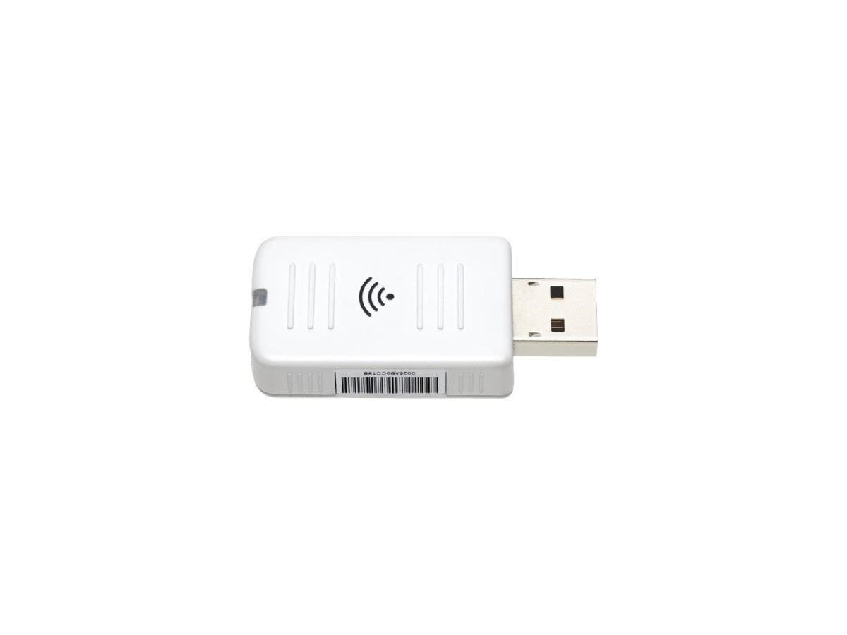 Epson IEEE 802.11n - Wi-Fi Adapter for Desktop Computer/Projector - USB - 54 Mbit/s - 2.40 GHz ISM - External-Large-Image-1